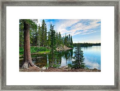 Tranquility - Twin Lakes In Mammoth Lakes California Framed Print by Jamie Pham