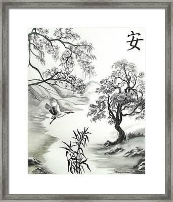 Tranquility W Kona Moringa Framed Print