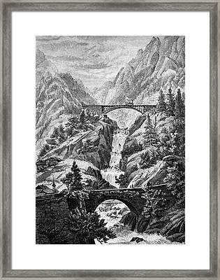 Trans-alpine Railway Framed Print by Bildagentur-online/tschanz