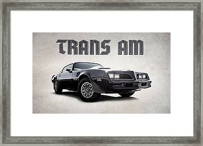 Framed Print featuring the digital art Trans Am by Douglas Pittman
