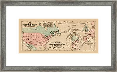Trans Atlantic Cable 1865 Framed Print