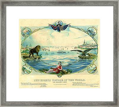 Trans-atlantic Cable 1866 Framed Print
