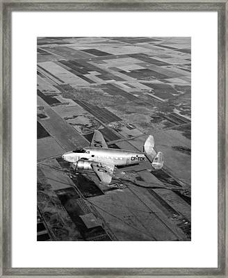 Trans-canada Passenger Plane Framed Print by Underwood Archives