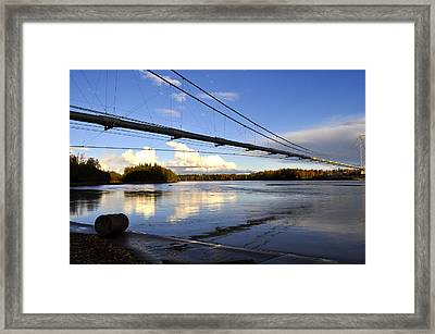 Framed Print featuring the photograph Transalaska Pipeline Bridge by Cathy Mahnke