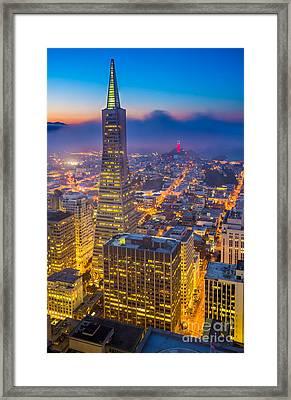 Transamerica Cityscape Framed Print by Inge Johnsson