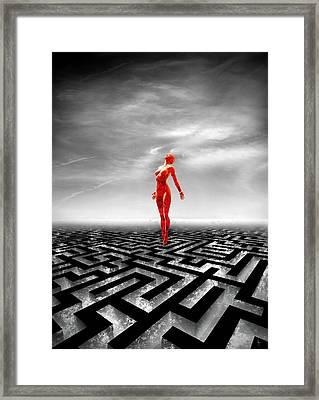 Transcend Framed Print by Jacky Gerritsen