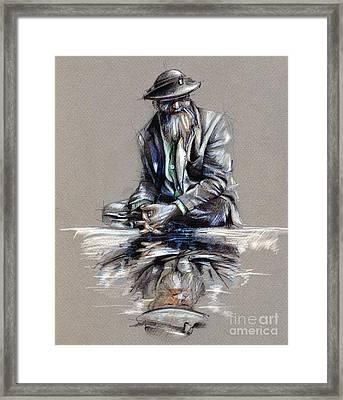 Transcendental Meditation - Drawing Framed Print by Daliana Pacuraru