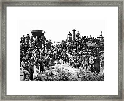 Transcontinental Railroad Framed Print by Underwood Archives