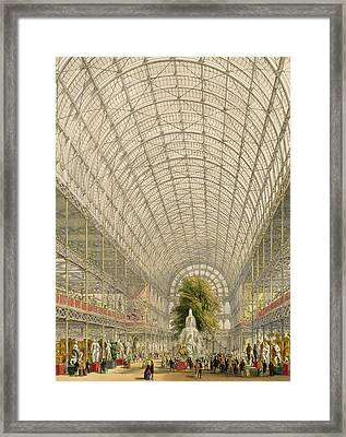 Transept Of The Crystal Palace Framed Print by George Hawkins