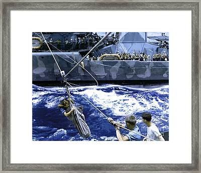 Transfer Of Survivors Framed Print by Celestial Images