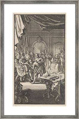 Transfer Of The Spanish Netherlands By Philip II Framed Print