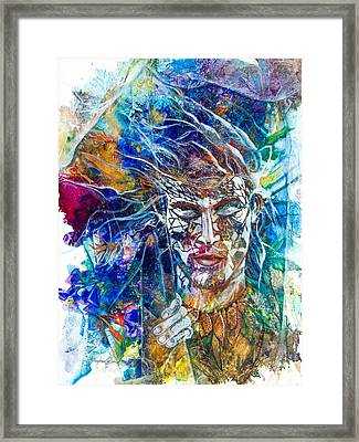 Transformation- Breaking Through Framed Print by Patricia Allingham Carlson