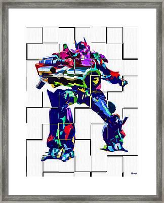 Transformers Optimus Prime Framed Print by Daniel Janda