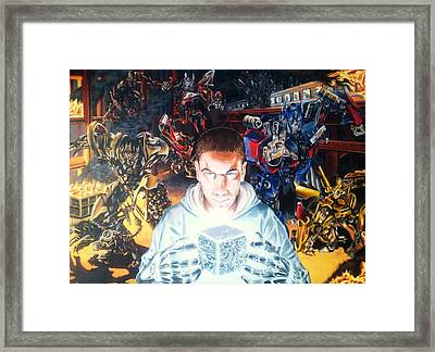 Transforming Chris Framed Print by Emile Gelderbloem