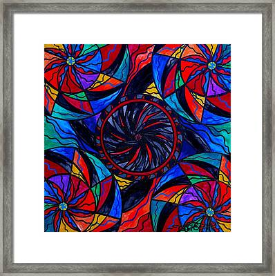 Transforming Fear Framed Print by Teal Eye  Print Store