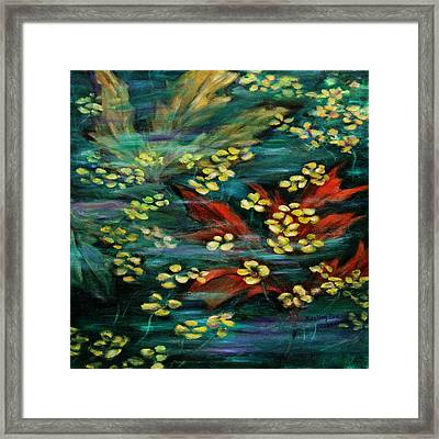 Framed Print featuring the painting Transforming... by Xueling Zou