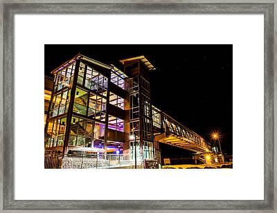 Transit Glow Framed Print