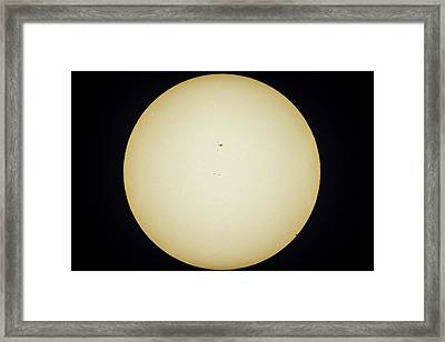 Transit Of Mercury 2016 3 Egress Framed Print
