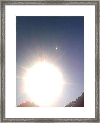 Framed Print featuring the photograph Transit Of Venus 2012 by Rc Rcd