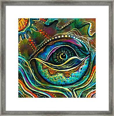 Transitional Spirit Eye Framed Print by Deborha Kerr