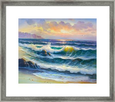 Translucent Wave Framed Print