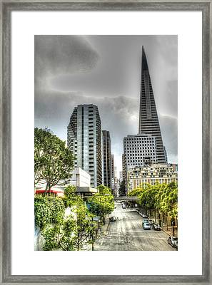 Transmerica Pyramid From The Embarcadero Framed Print