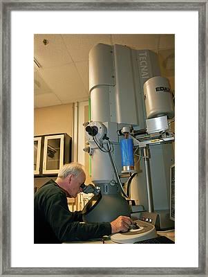 Transmission Electron Microscopy Framed Print by Jim West