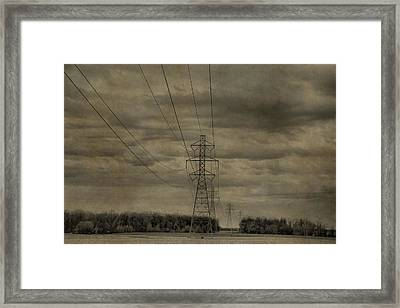 Transmission Towers Framed Print