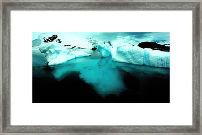 Framed Print featuring the photograph Transparent Iceberg by Amanda Stadther