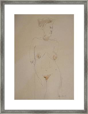 Transparent Nude Framed Print by Esther Newman-Cohen
