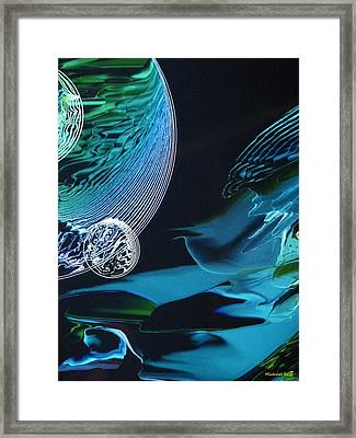 Transparent Planet Framed Print by Michael Kegg