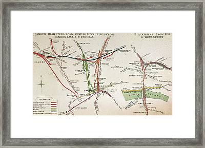 Transport Map Of London Framed Print by English School