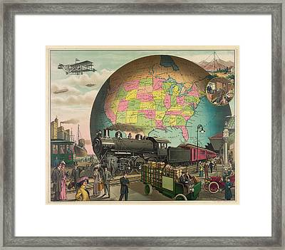 Transportation From 1910 Framed Print by E.S. Yates