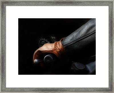 Leather Goes For A Ride Framed Print