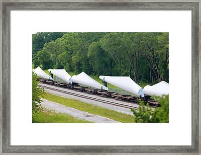 Transporting Wind Turbine Blades Framed Print by Jim West