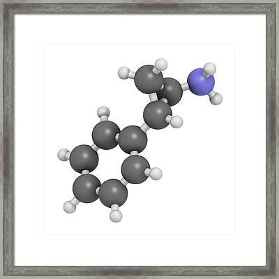 Tranylcypromine Antidepressant Drug Framed Print by Molekuul