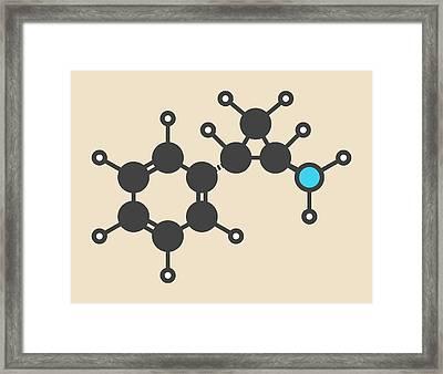 Tranylcypromine Drug Molecule Framed Print by Molekuul
