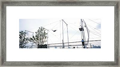 Trapeze School New York, Hudson River Framed Print by Panoramic Images