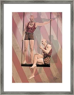Trapezist Brothers Framed Print