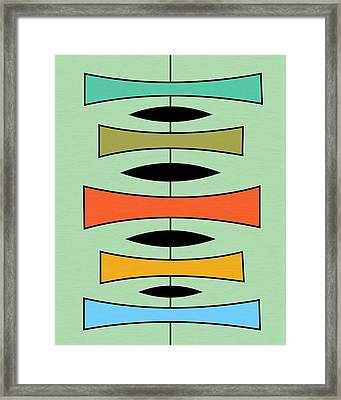 Trapezoids 2 Framed Print by Donna Mibus