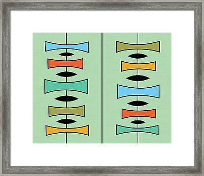 Trapezoids 3 Framed Print by Donna Mibus