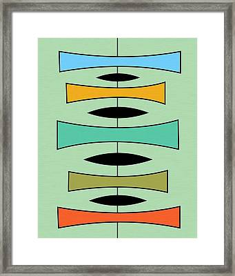 Trapezoids Framed Print by Donna Mibus