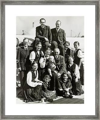 Trapp Family, 1939 Framed Print by Granger