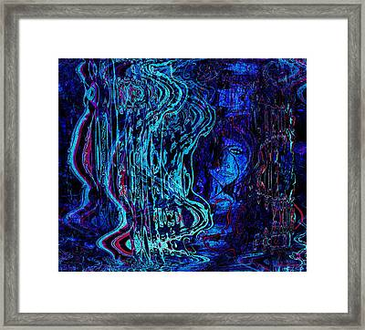 Trapped In Blues Framed Print by Natalie Holland