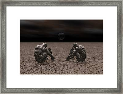 Framed Print featuring the digital art Trapped In Depression by Claude McCoy