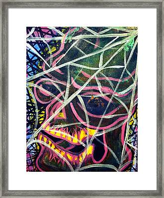 Trapped Framed Print by Ryno Worm  Tattoos