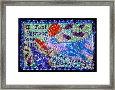 Trapped Wine Framed Print by Susan Sorrell