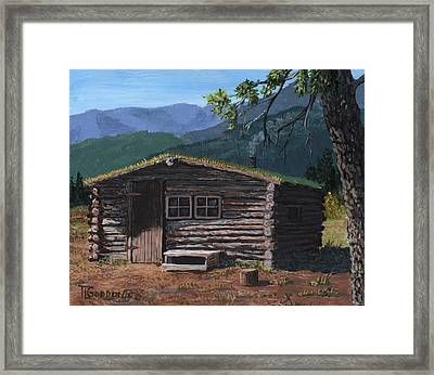 Trapper Cabin Framed Print by Timithy L Gordon