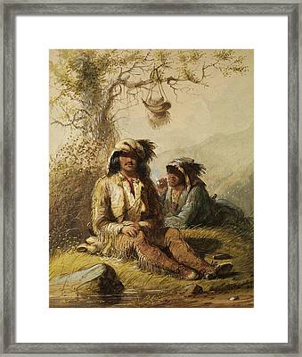 Trappers Framed Print by Alfred Jacob Miller