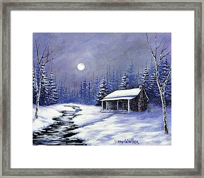 Trapper's Cabin Framed Print by Jerry Walker